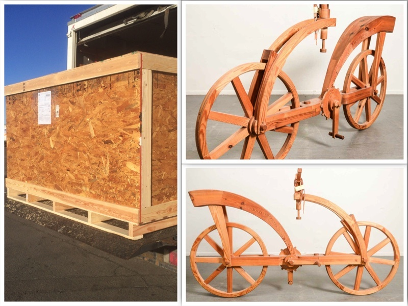 Shipping Artwork the Leonardo da Vinci bicycle